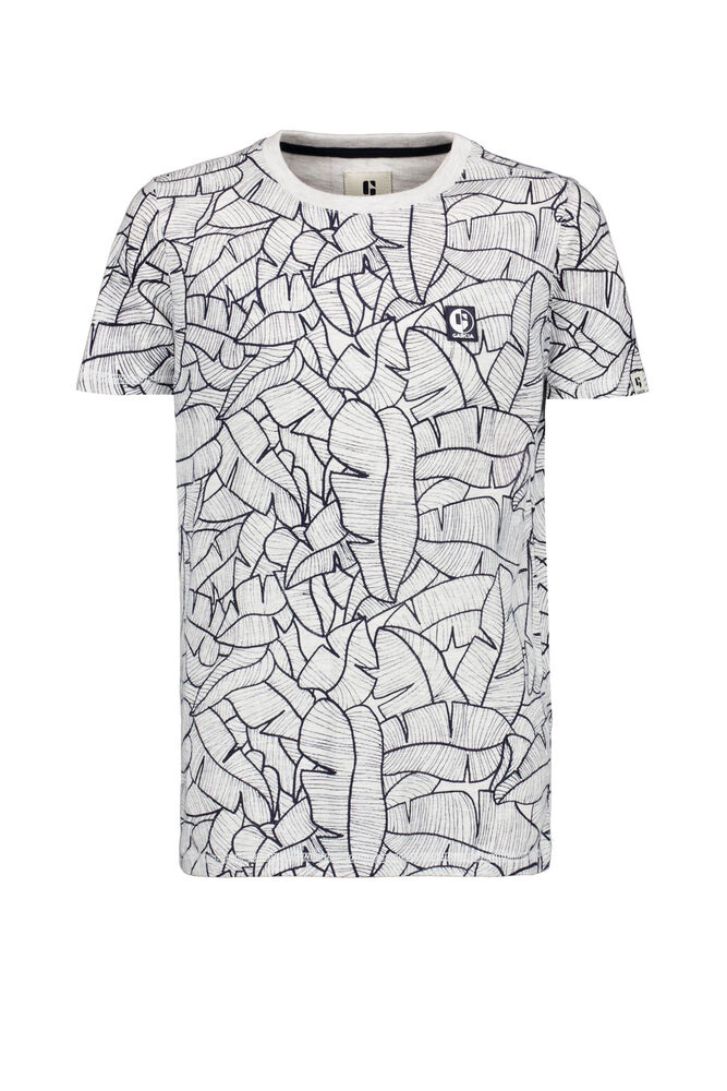 Garcia t-shirt met allover print wit a 13407